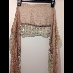 Lightweight floral scarf